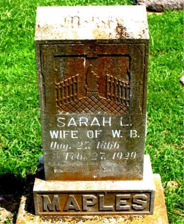 MAPLES, SARAH LOU - Boone County, Arkansas | SARAH LOU MAPLES - Arkansas Gravestone Photos