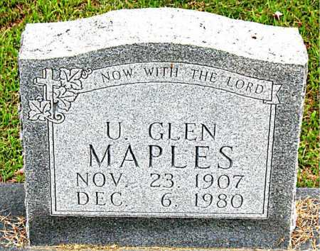 MAPLES, U GLEN - Boone County, Arkansas | U GLEN MAPLES - Arkansas Gravestone Photos