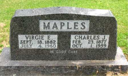 MAPLES, CHARLES J. - Boone County, Arkansas | CHARLES J. MAPLES - Arkansas Gravestone Photos