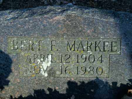MARKEE, BERT F. - Boone County, Arkansas | BERT F. MARKEE - Arkansas Gravestone Photos