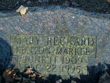 RECKARD MARKEE, MARY - Boone County, Arkansas | MARY RECKARD MARKEE - Arkansas Gravestone Photos