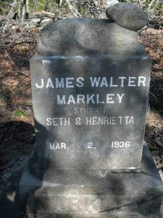 MARKLEY, JAMES WALTER - Boone County, Arkansas | JAMES WALTER MARKLEY - Arkansas Gravestone Photos