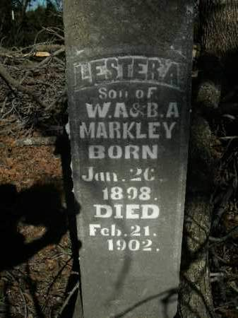 MARKLEY, LESTER A. - Boone County, Arkansas | LESTER A. MARKLEY - Arkansas Gravestone Photos