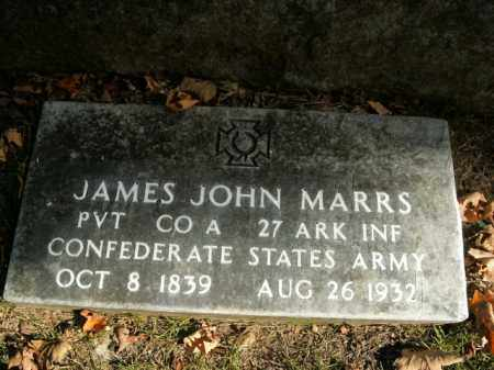 MARRS  (VETERAN CSA), JAMES JOHN - Boone County, Arkansas | JAMES JOHN MARRS  (VETERAN CSA) - Arkansas Gravestone Photos