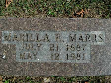 MARRS, MARILLA E. - Boone County, Arkansas | MARILLA E. MARRS - Arkansas Gravestone Photos