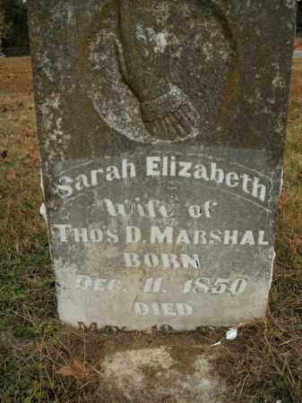 MARSHAL, SARAH ELIZABETH - Boone County, Arkansas | SARAH ELIZABETH MARSHAL - Arkansas Gravestone Photos