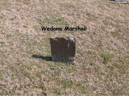 MARSHALL, WEDONA - Boone County, Arkansas | WEDONA MARSHALL - Arkansas Gravestone Photos