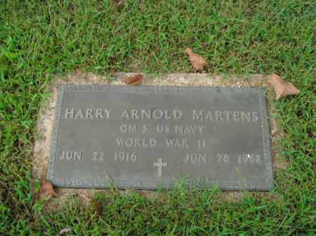 MARTENS  (VETERAN WWII), HARRY ARNOLD - Boone County, Arkansas | HARRY ARNOLD MARTENS  (VETERAN WWII) - Arkansas Gravestone Photos