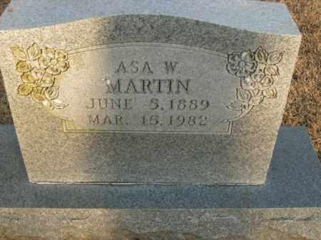 MARTIN, ASA W. - Boone County, Arkansas | ASA W. MARTIN - Arkansas Gravestone Photos