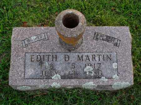 MARTIN, EDITH D. - Boone County, Arkansas | EDITH D. MARTIN - Arkansas Gravestone Photos