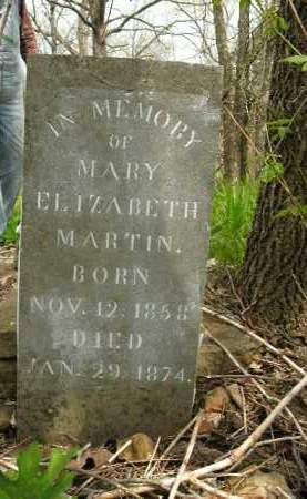 MARTIN, MARY ELIZABETH - Boone County, Arkansas | MARY ELIZABETH MARTIN - Arkansas Gravestone Photos