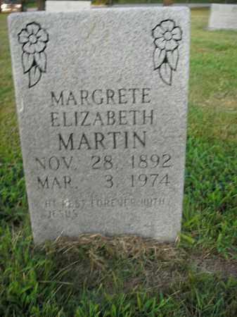 MARTIN, MARGRETE ELIZABETH - Boone County, Arkansas | MARGRETE ELIZABETH MARTIN - Arkansas Gravestone Photos