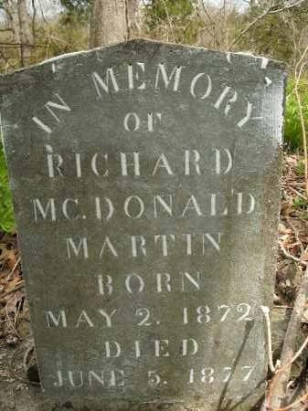 MARTIN, RICHARD MCDONALD - Boone County, Arkansas | RICHARD MCDONALD MARTIN - Arkansas Gravestone Photos