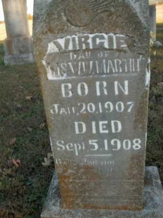 MARTIN, VIRGIE - Boone County, Arkansas | VIRGIE MARTIN - Arkansas Gravestone Photos