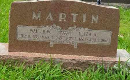 MARTIN, WALTER W. - Boone County, Arkansas | WALTER W. MARTIN - Arkansas Gravestone Photos
