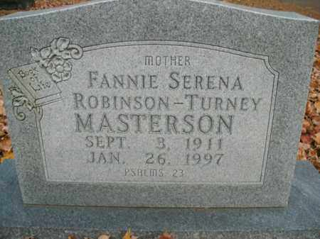 MASTERSON, FANNIE SERENA - Boone County, Arkansas | FANNIE SERENA MASTERSON - Arkansas Gravestone Photos
