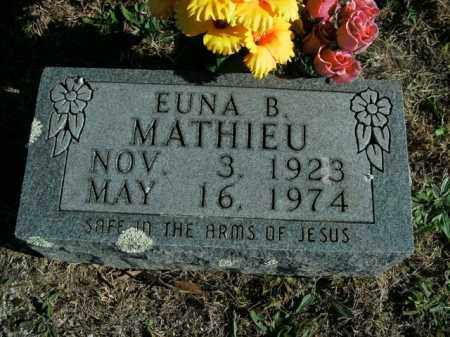 MATHIEU, EUNA B. - Boone County, Arkansas | EUNA B. MATHIEU - Arkansas Gravestone Photos