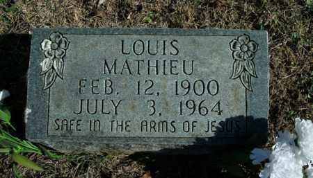 MATHIEU, LOUIS - Boone County, Arkansas | LOUIS MATHIEU - Arkansas Gravestone Photos
