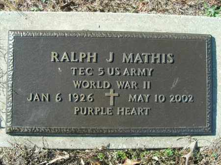 MATHIS (VETERAN WWII), RALPH J. - Boone County, Arkansas | RALPH J. MATHIS (VETERAN WWII) - Arkansas Gravestone Photos