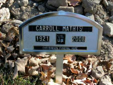 MATHIS, CARROLL - Boone County, Arkansas   CARROLL MATHIS - Arkansas Gravestone Photos