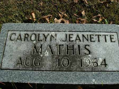 MATHIS, CAROLYN JEANETTE - Boone County, Arkansas | CAROLYN JEANETTE MATHIS - Arkansas Gravestone Photos
