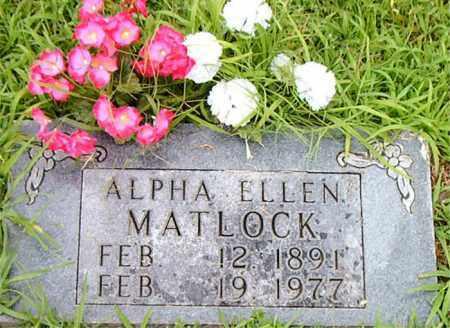 MATLOCK, ALPHA ELLEN - Boone County, Arkansas | ALPHA ELLEN MATLOCK - Arkansas Gravestone Photos