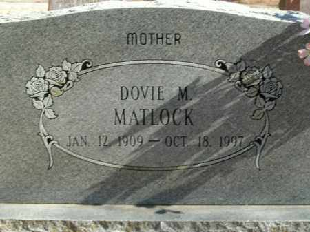 MATLOCK, DOVIE M. - Boone County, Arkansas | DOVIE M. MATLOCK - Arkansas Gravestone Photos