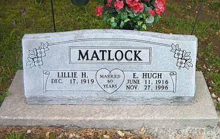 MATLOCK, E.  HUGH - Boone County, Arkansas | E.  HUGH MATLOCK - Arkansas Gravestone Photos