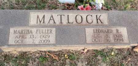 MATLOCK, LEONARD R. - Boone County, Arkansas | LEONARD R. MATLOCK - Arkansas Gravestone Photos