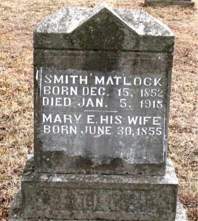 MATLOCK, SMITH - Boone County, Arkansas | SMITH MATLOCK - Arkansas Gravestone Photos