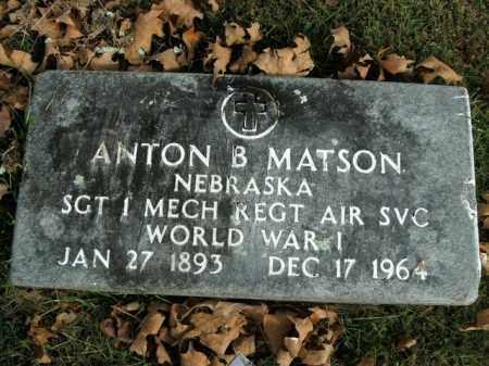 MATSON  (VETERAN WWI), ANTON B. - Boone County, Arkansas | ANTON B. MATSON  (VETERAN WWI) - Arkansas Gravestone Photos