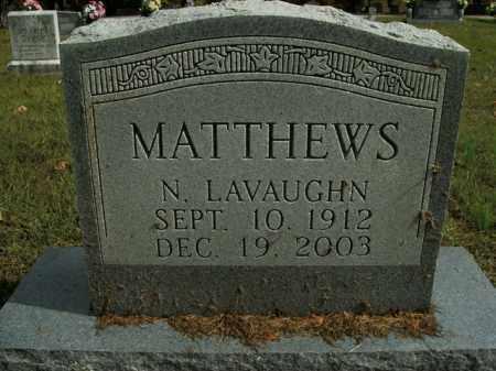 MATTHEWS, N. LAVAUGHN - Boone County, Arkansas | N. LAVAUGHN MATTHEWS - Arkansas Gravestone Photos