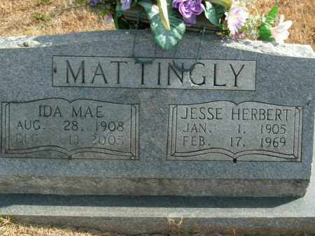 MATTINGLY, JESSE HERBERT - Boone County, Arkansas | JESSE HERBERT MATTINGLY - Arkansas Gravestone Photos
