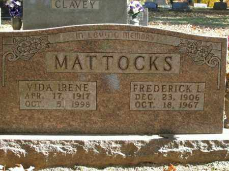 MATTOCKS, VIDA IRENE - Boone County, Arkansas | VIDA IRENE MATTOCKS - Arkansas Gravestone Photos