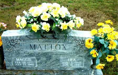 MATTOX, MAGGIE - Boone County, Arkansas | MAGGIE MATTOX - Arkansas Gravestone Photos
