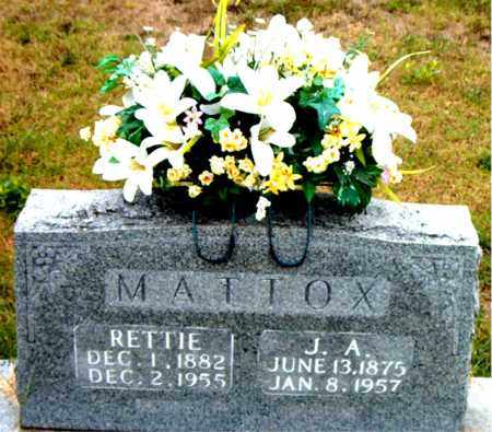 MATTOX, J.A. - Boone County, Arkansas | J.A. MATTOX - Arkansas Gravestone Photos