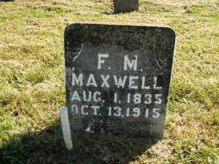 MAXWELL, F. M. - Boone County, Arkansas | F. M. MAXWELL - Arkansas Gravestone Photos
