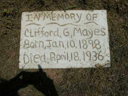 MAYES, CLIFFORD G. - Boone County, Arkansas | CLIFFORD G. MAYES - Arkansas Gravestone Photos