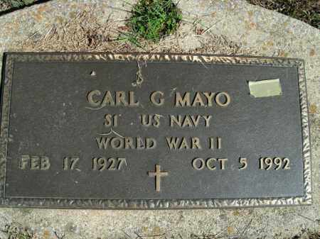 MAYO  (VETERAN WWII), CARL G - Boone County, Arkansas | CARL G MAYO  (VETERAN WWII) - Arkansas Gravestone Photos