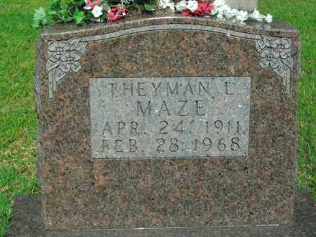 MAZE, THEYMAN L. - Boone County, Arkansas | THEYMAN L. MAZE - Arkansas Gravestone Photos