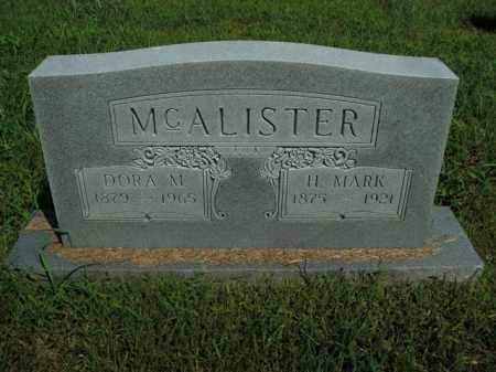 MCALISTER, DORA M. - Boone County, Arkansas | DORA M. MCALISTER - Arkansas Gravestone Photos