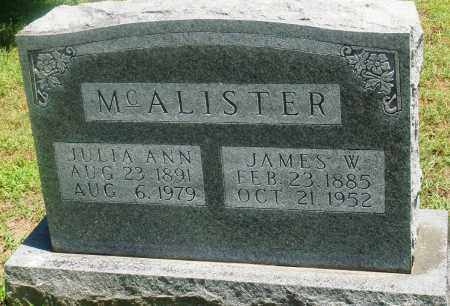 MCALISTER, JULIA ANN - Boone County, Arkansas | JULIA ANN MCALISTER - Arkansas Gravestone Photos