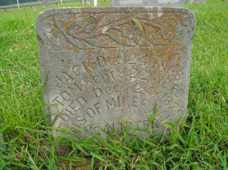 MCALISTER, TOM - Boone County, Arkansas | TOM MCALISTER - Arkansas Gravestone Photos