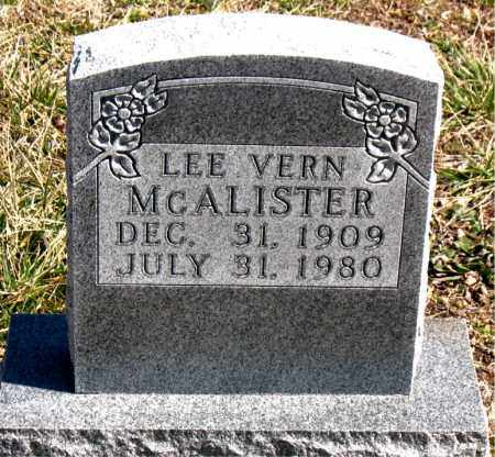 MCALISTER, LEE VERN - Boone County, Arkansas | LEE VERN MCALISTER - Arkansas Gravestone Photos