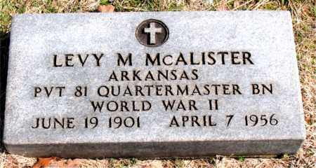 MCALISTER  (VETERAN WWII), LEVY  M - Boone County, Arkansas | LEVY  M MCALISTER  (VETERAN WWII) - Arkansas Gravestone Photos