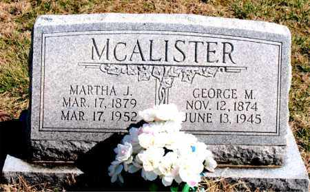 POTTS MCALISTER, MARTHA JOSEPHINE - Boone County, Arkansas | MARTHA JOSEPHINE POTTS MCALISTER - Arkansas Gravestone Photos