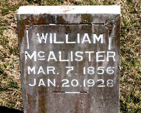 MCALISTER, WILLIAM - Boone County, Arkansas | WILLIAM MCALISTER - Arkansas Gravestone Photos