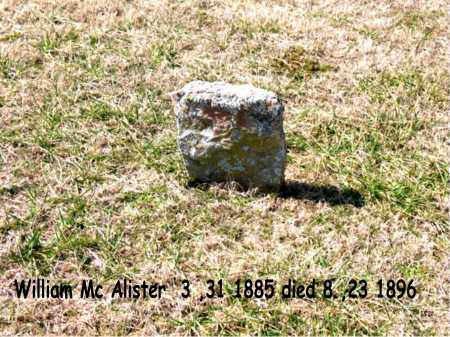 MCALISTER, WILLIAM - Boone County, Arkansas | WILLIAM MCALISTER - Arkansas Gravestone Photos