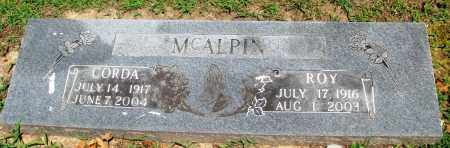 MCALPIN, ROY - Boone County, Arkansas | ROY MCALPIN - Arkansas Gravestone Photos