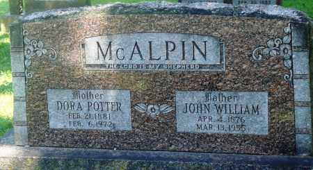 POTTER MCALPIN, DORA - Boone County, Arkansas | DORA POTTER MCALPIN - Arkansas Gravestone Photos